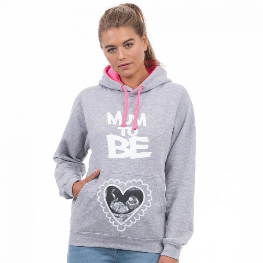 Mum To Be Pregnancy Scan Hoodie by Imattination